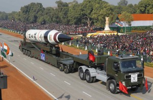 File photo of surface-to-surface Agni V missile displayed during the Republic Day parade in New Delhi