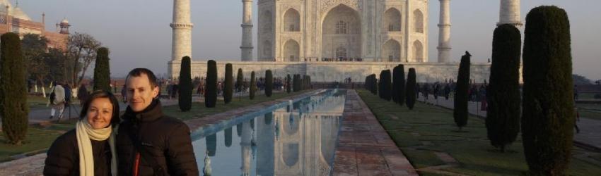 Taj Mahal, Agra, Inde, le 27/01/2013