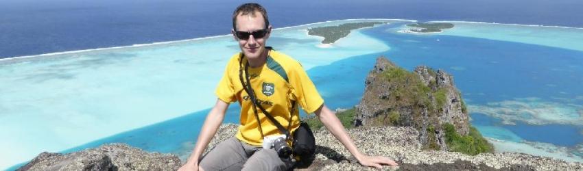 Vue panoramique sur Maupiti, Polynésie Française, le 10/08/2013